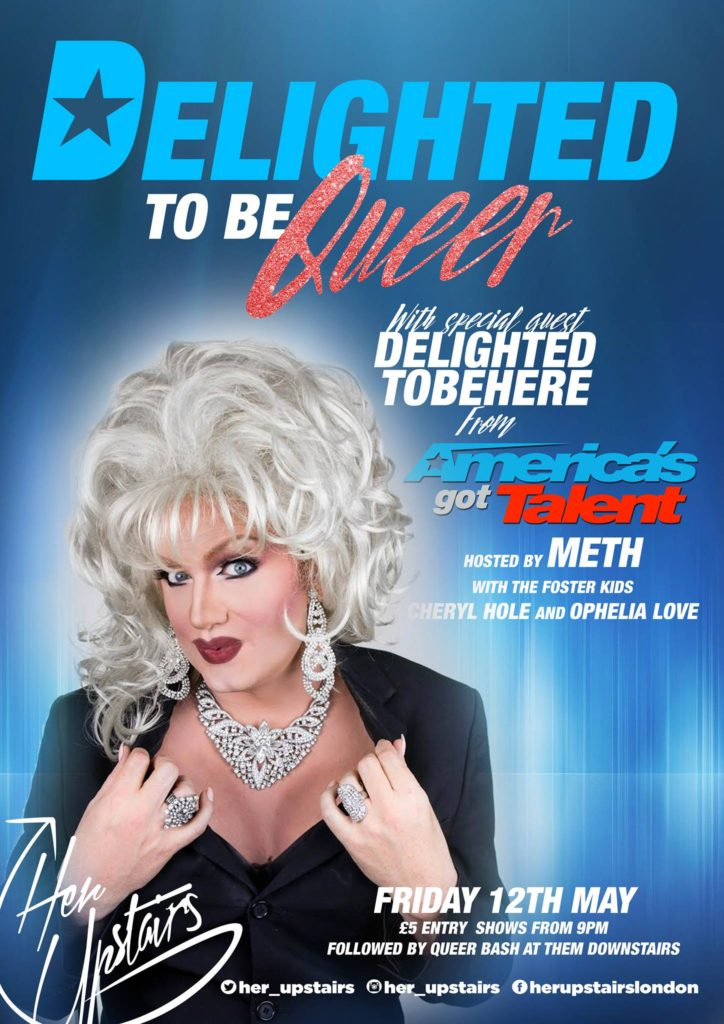 Special Guest Delighted tobeHere joins friday night shenanigans as part of her UK tour
